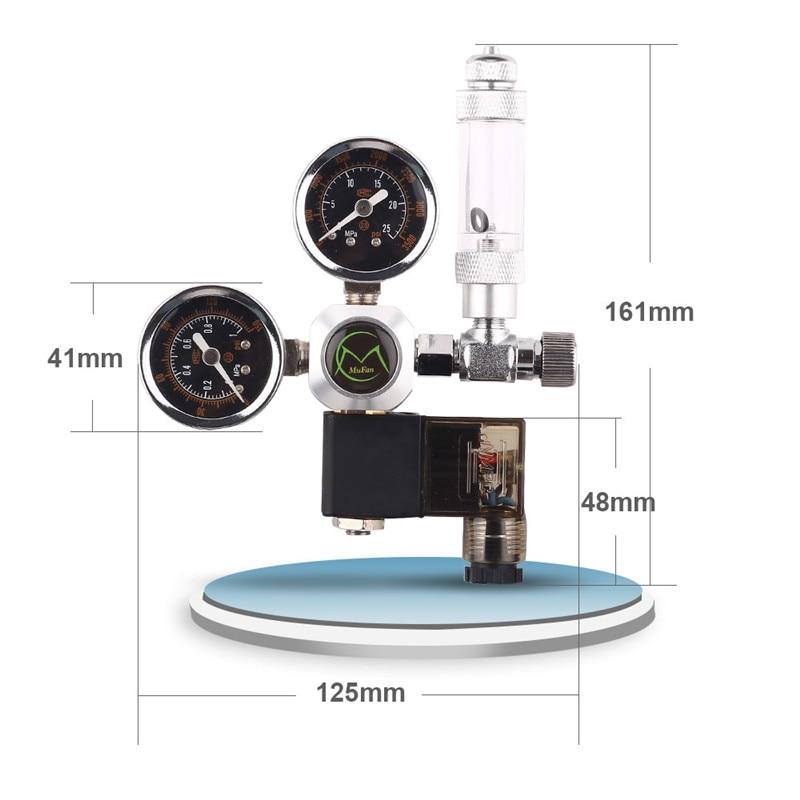 220V Aquarium CO2 Regulator Magnetic Solenoid Check Valve Aquarium Bubble Counter W21.8 Water Plant Fish Tank Tool CO2 Control02