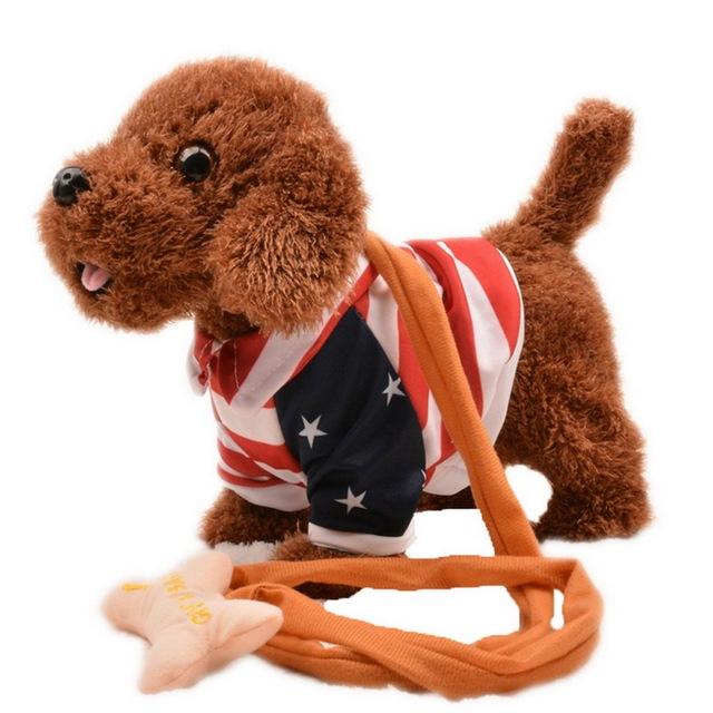 Brinquedos quentes Cães Animais de Estimação Animais de Estimação Do Cão Robô Elétrico Cantar Andar Com Brinquedos Musicais Para Crianças dos miúdos Presente de Natal