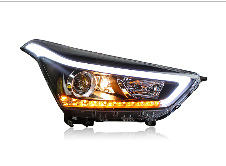 Car Styling Head Lamp For Hyundai Creta IX25 2015 2016 2017 Headlights LED Dynamic Turn Signal Light LED DRL Bi Xenon Low Beam-in Car Light Assembly from Automobiles & Motorcycles    2