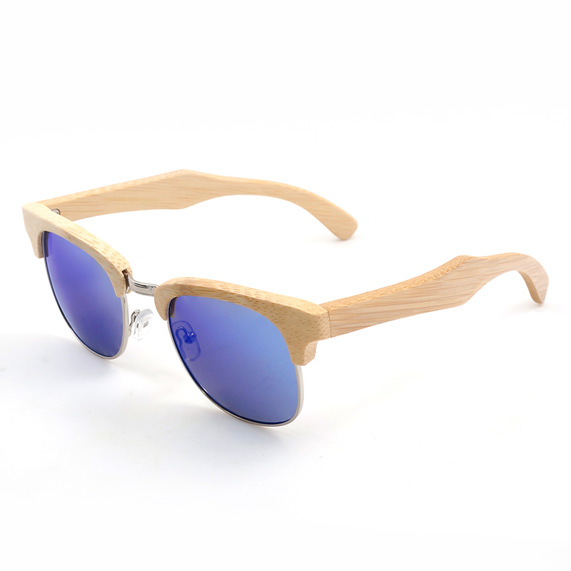 Style de mode BOBO OISEAU Semi Boîtier Design Unisexe Bambou En Bois Bande De La Marque De Luxe lunettes de Soleil Femmes Avec la Boîte