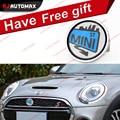 For Mini Cooper Creative Blue Mini Front Grille Emblem Badge Stickers Countryman 55 R56 R57 R58 R59 R60 R61 F55 F56 Accessories
