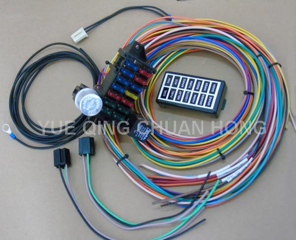 14 circuit universal wire harness kits muscle car hot rod street rod rh aliexpress com Universal Wiring Harness Diagram Universal Wiring Harness Wire