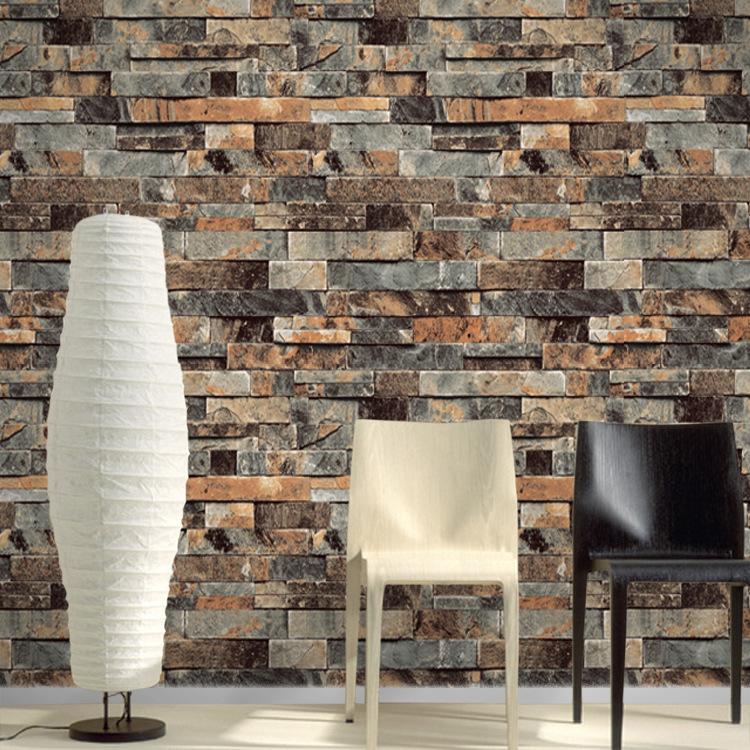 cm x m del vinilo del pvc moderno de imitacin de ladrillo de piedra d wallpaper saln dormitorio bao casa decoracin de