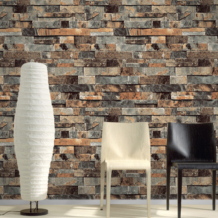 53cm X 10m PVC Vinyl Modern Faux Brick Stone 3D Wallpaper Living Room Bedroom Bathroom Home Wall Decoration HT483 486 In Wallpapers From Improvement On