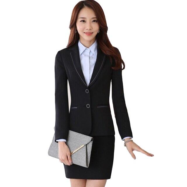 Новые приходят элегантный женский костюм юбка с длинными рукавами пиджак и юбка пр офисные повелительниц тонкий комплект офис одежда рабочая одежда
