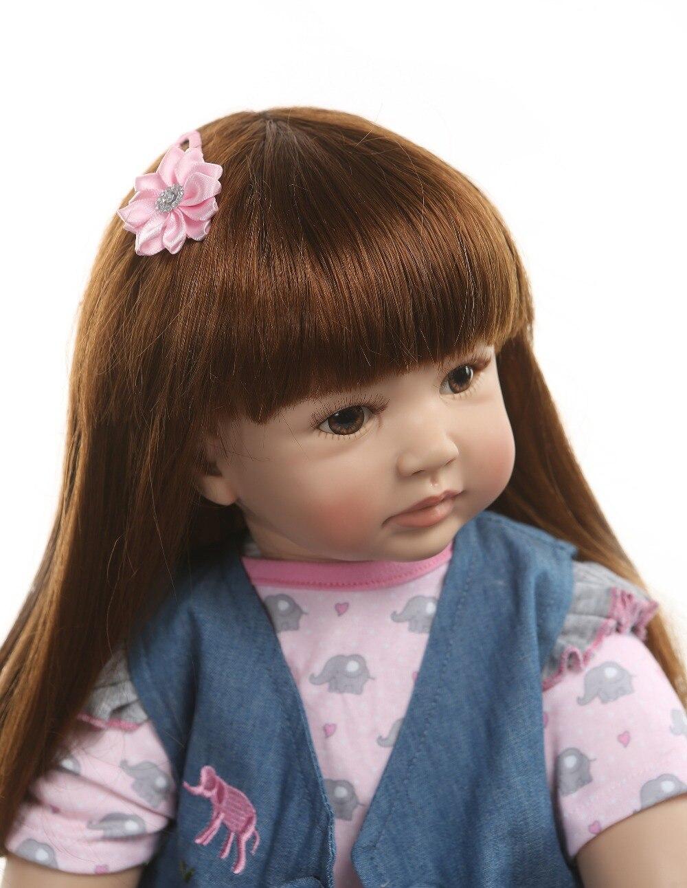 NPK 60 cm silicona Reborn Baby Doll juguetes para niñas exquisito vinilo princesa niño vivo Bebe bebés moda cumpleaños infantil regalo-in Muñecas from Juguetes y pasatiempos    3