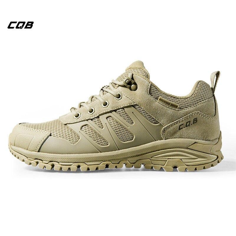 CQB Sports de Plein Air Tactique Trekking Hommes Sneakers Lumière absorption des Chocs Non-slip Chaussures Bottes Militaires pour Camping Randonnée