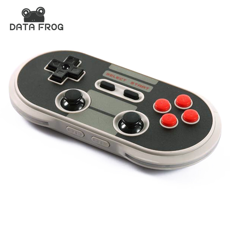 ФОТО 8Bitdo NES30 Pro Game Controller Wireless Bluetooth Gamepad For IOS Android PC Mac Dual Classic Joystick Retro Linux Design