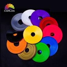 цена на Free shipping 8M/ Roll Car Styling Rim Moulding Trim Hub Wheel Stickers strip Tire Guard Line Rubber Wheel Protector