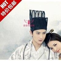 Costume male crownpiece black hair tiaras costume hair crown elegant men's cap