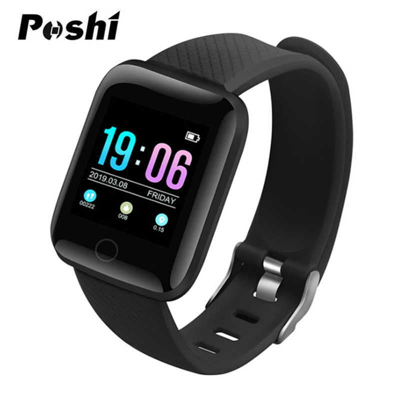 Sport Smart Watch OLED Color Screen Android Watch Waterproof Fitness Tracker Heart Rate Blood Pressure Smartwatch For IOS phone
