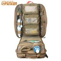 SPANKER Airsoft MOLLE Military Backpack 1050 Nylon Durable Emergency Medical Backpack Assault Combat Rucksack Dump Hunting