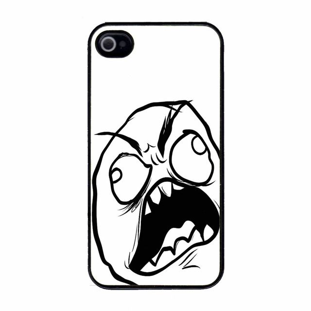 Angry Stressed Mad Meme Troll Plastic Hard Back Cell Phone Case