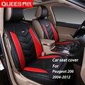 4 Cores Tampa de Assento Do Carro adaptado Especificamente para Peugeot 206 (2004-2012) pu couro artificial Carro Styling acessórios do carro
