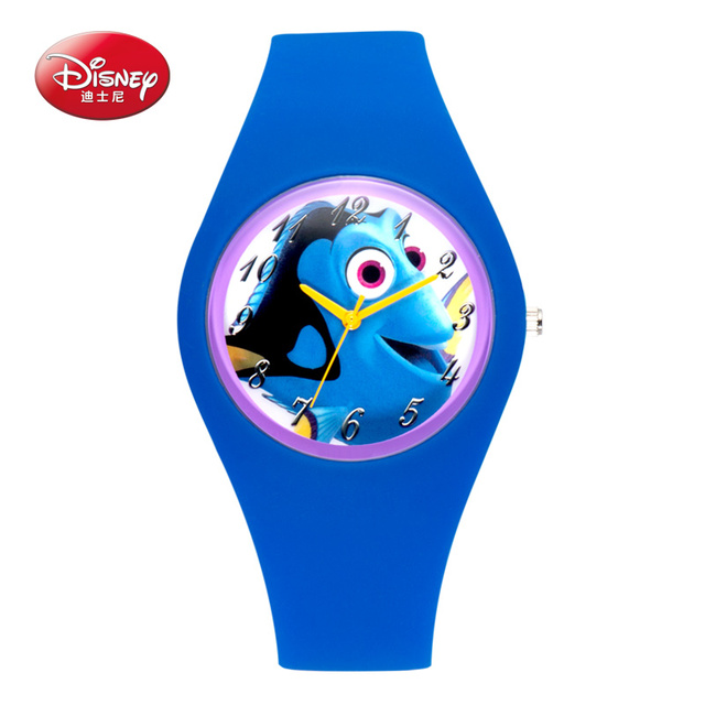 Disney Silicone Seabed General Mobilization Watch Analog Printed Rubber Band Vintage Fashion Boys Wristwatch Jelly Candy Color