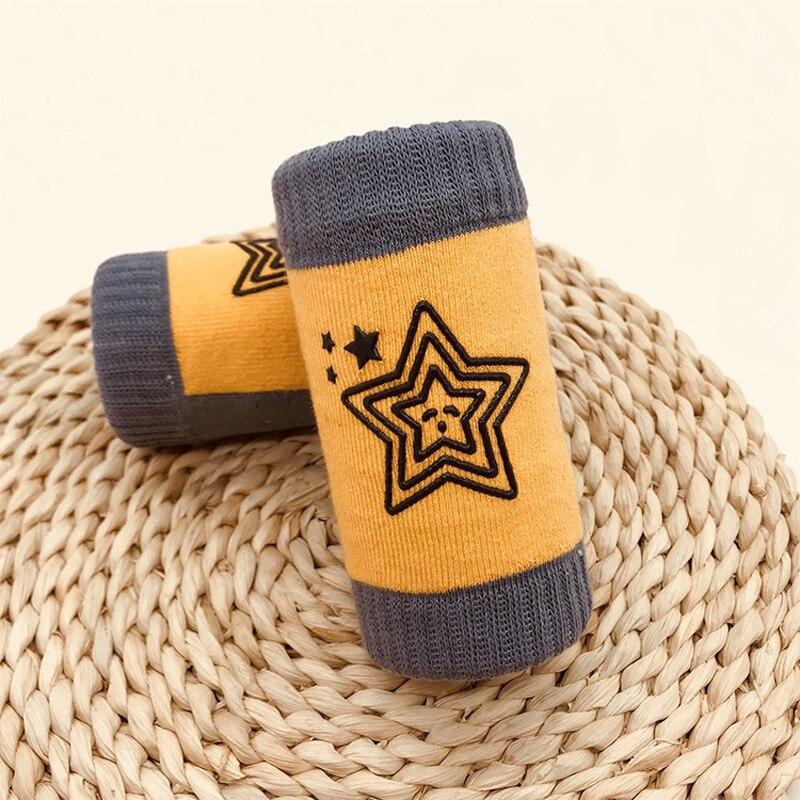 0-3 Years Baby Kids Cotton Leg Warmers Toddler Boys Girls Children Knee Protection Socks Star Print Spring Summer Autumn Winter