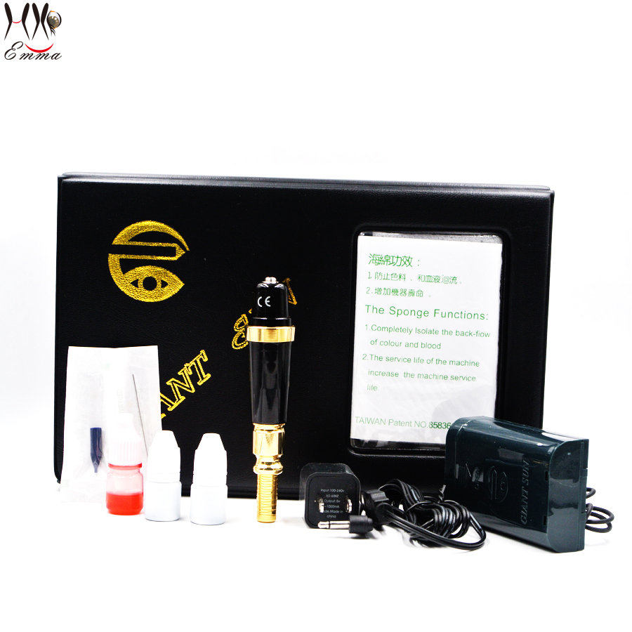 Free shipping original  Gold Rose tattoo Machine kit makeup tattoo eyebrow pen machine for permanent makeup eyebrow 35000r import permanent makeup machine best tattoo makeup eyebrow lips machine pen