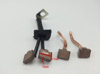 Lote de 10 brochas de carbón para principiantes, eléctricas, para Motor de arranque VW Jetta Passat Citroen Elysee (12x16x5mm)