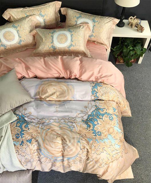 Luxury retro yellow flower bedding setsfull queen king 100cotton luxury retro yellow flower bedding setsfull queen king 100cotton 100s florid home mightylinksfo Image collections