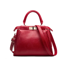 2016 Premium frauen designer-handtaschen weiche spliter leder Damen umhängetasche rot schwarz grau große weibliche einkaufstasche für arbeit