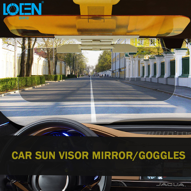 Anti-glare HD Car Sun Visor Goggles For Driver Day And Night Anti-dazzle Mirror UV Block Sun Visors Clear View Dazzling Goggles