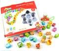 Бесплатная доставка детские образовательные животных и фрукты блоки, деревянные строками из бисера серии игрушки