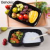 Behokic 10 Pack Disposable Plastic Food Storage Containers Lunch Box Bento Box With Lid Freezer Dishwasher