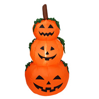 Besegad Cute Funny Novelty Halloween Inflatable 3 Layer Pumpkin Lanterns Toys Gifts Roly Poly Art Themed Party Decorations Prop