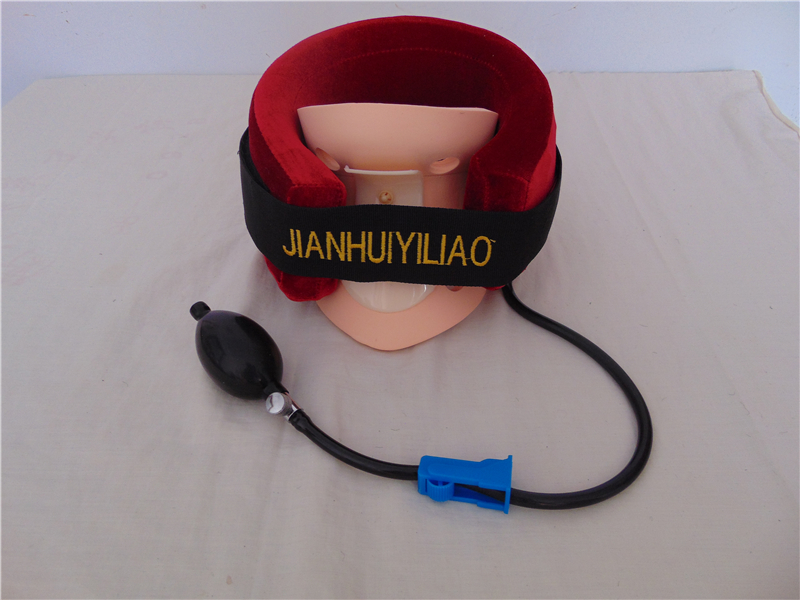 2016 New arrival hyousehold cervical collar neck braces supports air traction therapy device pain relief tool