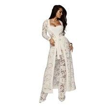 ba26d25e1584 Black White Strapless Lace See Through Rompers Sexy Women Cardigan Coat  +Bodysuit+Long Pant 3 Piece Jumpsuit Plus Size Overalls