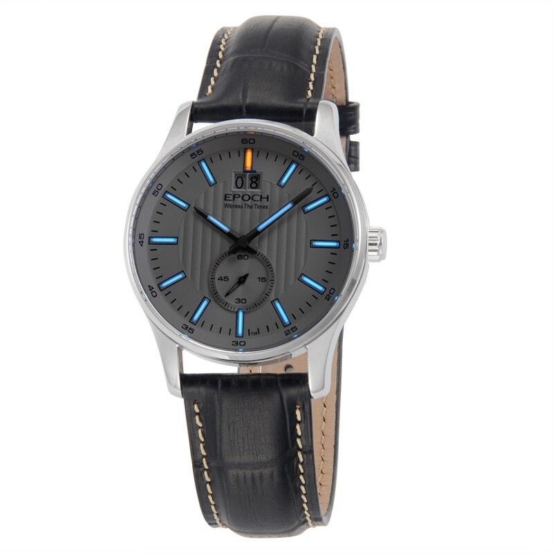 エポック6021GN防水100メートルトリチウムガス発光ビッグカレンダー表示ファッションビジネスメンズクォーツ時計  グループ上の 腕時計 からの クォーツ時計 の中 1