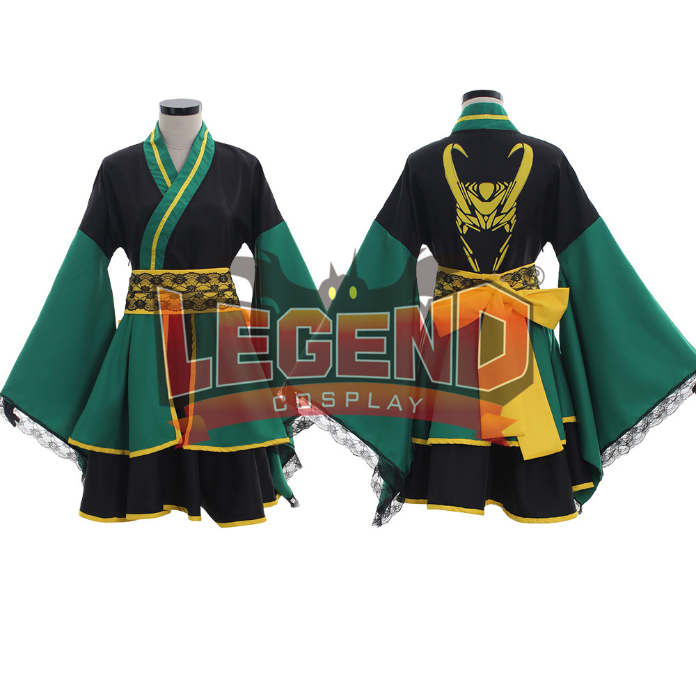 avengers thor loki kimono dress cosplay costume outfit custom made