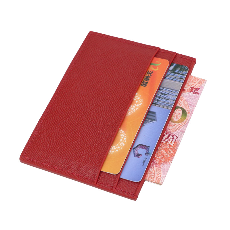 a91f8abbca2f Classic Business Saffiano Split Leather Credit Card Holder Limited Edition  Customed Initial letters ID Card Case Card Wallet-in Card & ID Holders from  ...