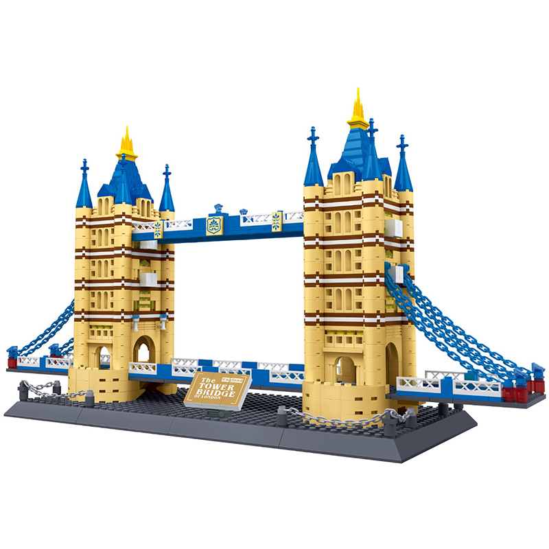 WANGE London Tower Bridge Architecture Series Building Block Set Model 1033 Pcs Bricks 2017 Educational Toys For Children Gifts mr froger loz diamond block easter island world famous architecture diy plastic building bricks educational toys for children