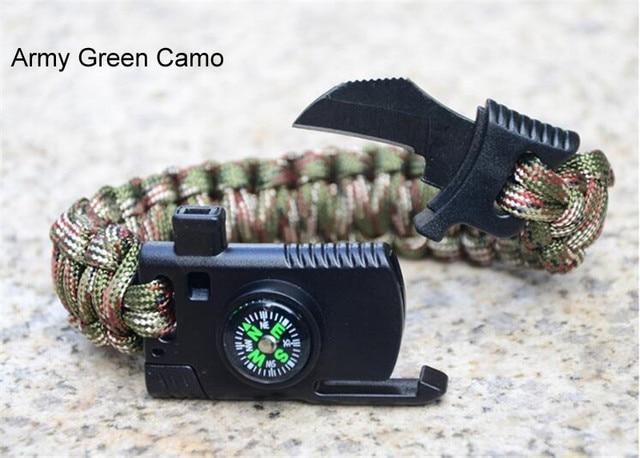 Военный аварийный плетеный браслет для выживания мужчин и женщин