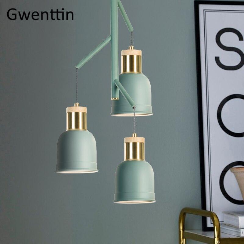Скандинавский деревянный подвесной светильник современный светодиодный подвесной светильник для гостиной спальни Лофт промышленный дома