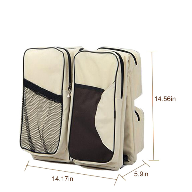 Diapers Bags Mummy Travel Baby Bottle Cloth Case Large Space Baby 3 in 1 Portable Nappy Nursing Bag P25 1