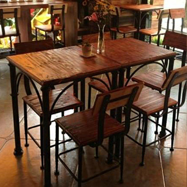 iron industrial furniture. American Country To Do The Old Industrial Style Furniture, Wrought Iron  Cafe Dinette Antique Coffee Table Leisure Furniture-in Coffee Tables From Furniture Furniture S