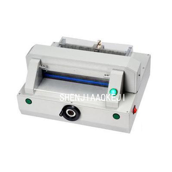 Electric paper Cutter HD-QZ320 Small mesa type electric cutting machine security Cutting paper 220V  120W