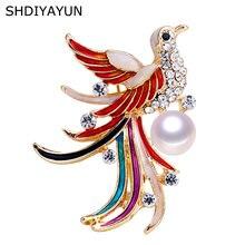 Shdiyayun Новая высококачественная жемчужная брошь Феникс для