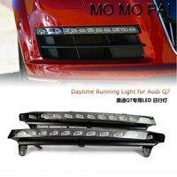 Car styling 2x Lampa Światła LED do Jazdy Dziennej DRL Dzień Mgła Turn Signal Fit dla Audi Q7 2006-2009