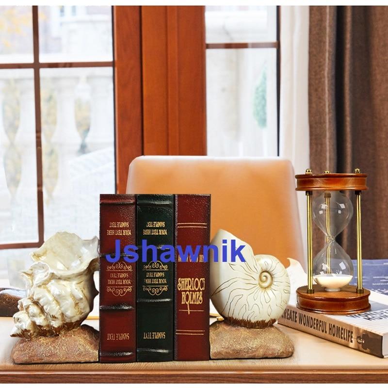 Werkzeuge Ein Paar Conch Buchstütze Regal Buchstütze Bürotechnik Dekoration Buch Stehen Einfach Und Leicht Zu Handhaben