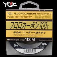 Il giappone Ha Importato YGK 100 M 100% Super Forte Vero Fluorocarbon Linea di Pesca Linea di Carbonio Anteriore Wireway Trasparente Monofilamento