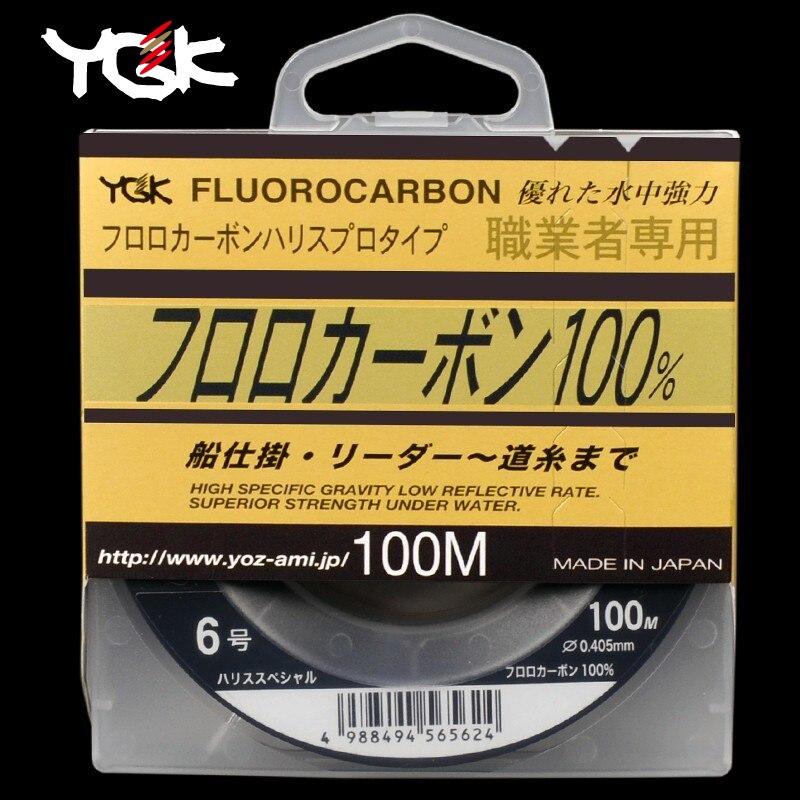 Japan Importiert YGK 100 M 100% Super Stark Wahr Fluor Angelschnur Kohlenstoff Linie Front Verdrahtungskanal Transparent Monofilament