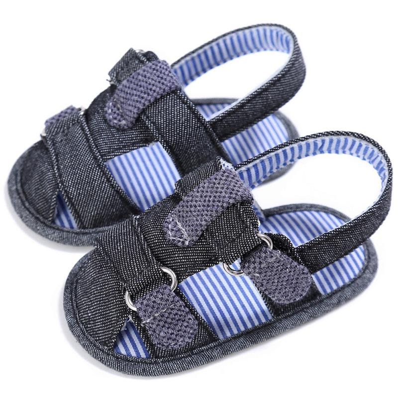 MUQGEW Baby Boy Shoes Toddler Canvas Boys Cute Crib Baby Shoes T-tied Soft Prewalker Soft Baby First Walkers
