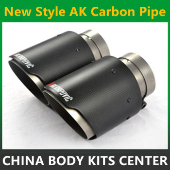 1PCS Exquisite style Inlet (51mm) Outlet (76mm) Akrapovic Carbon Fiber Exhaust pipe Exhaust End Tips For BMW Audi VW Accessories bmw f30 akrapovic auspuffblende