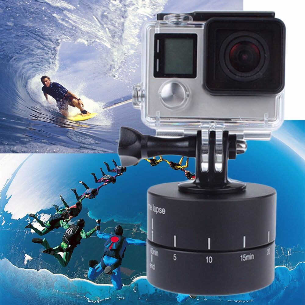 Time lapse 360 Degree Auto Rotate Camera Tripod Head Base 360 TL Timelapse for Xiaoyi Gopro Camera SLR For iphone Drop Shipping