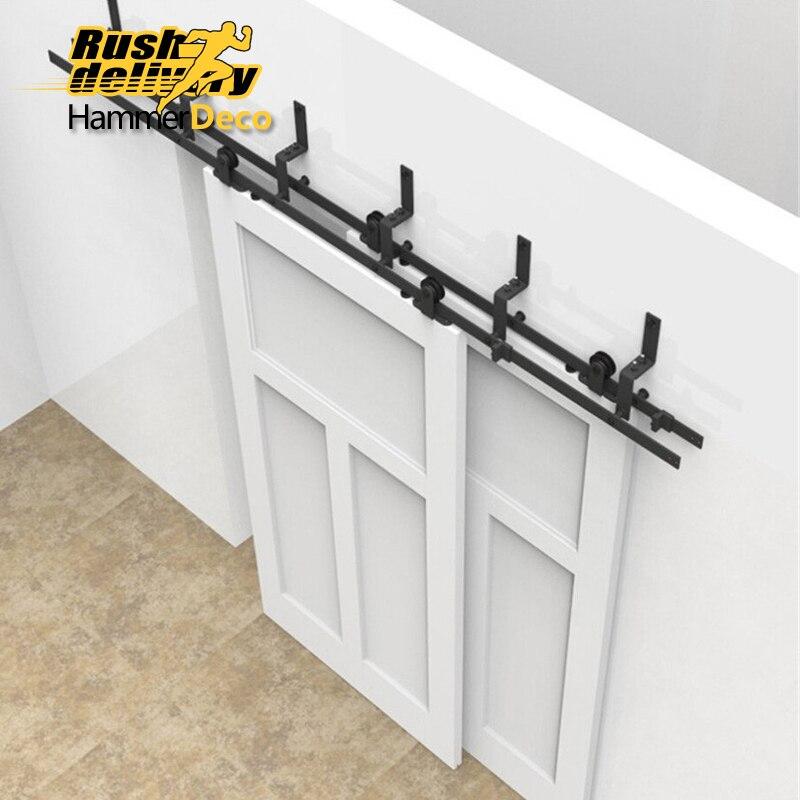 3050mm to 4880mm style upper sliding door hardware indoor barn barn door pure steel hardware suit
