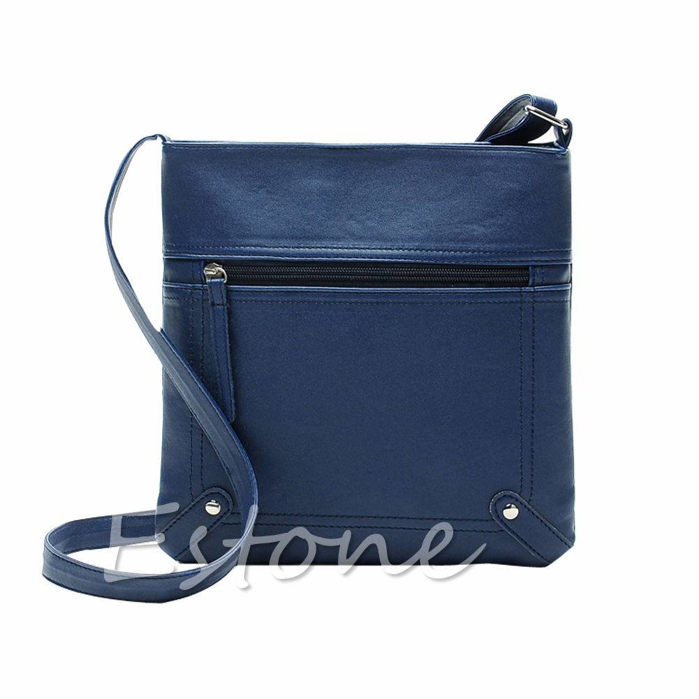 Women Lady Leather Crossbody Handbag Single Shoulder Bag Tote Messenger Flap Solid Zip Money Phone Bags Brand New 2017 Fashion new fashion women brand solid pu leather handbag high quality brown shoulder lady messenger bag vintage crossbody bags