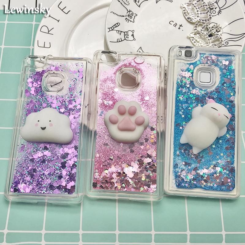 Liquid phone cases For Fundas Huawei P9 Lite case For Coque Huawei p9 p9 lite 2016 case cover Glitter Sand Soft TPU Back cove